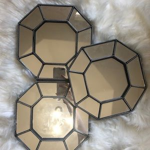 Other - Three Octagon-shaped Decorative Mirrors